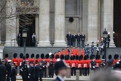 Κηδεία της Θάτσερ βαρονών Στοκ εικόνες με δικαίωμα ελεύθερης χρήσης