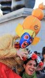 Λονδίνο UK 16 Οκτωβρίου 2016 Φεστιβάλ του Λονδίνου του ατόμου Diwali που ντύνεται στο Θεό Hanuman Στοκ Εικόνα