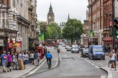 Λονδίνο UK Big Ben στην πλάτη από Withehall οδός-2 Στοκ εικόνες με δικαίωμα ελεύθερης χρήσης