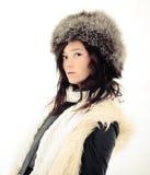 λοξός χειμώνας κοριτσιών Στοκ φωτογραφία με δικαίωμα ελεύθερης χρήσης