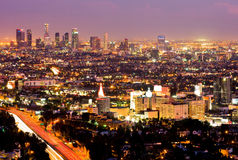 Λος Άντζελες τη νύχτα Στοκ Φωτογραφίες