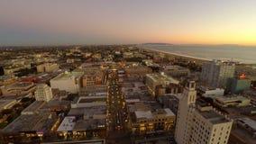 Λος Άντζελες η εναέρια Σάντα Μόνικα απόθεμα βίντεο