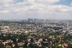 Λος Άντζελες, Καλιφόρνια Άποψη από το ύψος Στοκ εικόνα με δικαίωμα ελεύθερης χρήσης