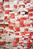 Λος Άντζελες, Καλιφόρνια, ΗΠΑ, στις 24 Μαΐου 2015, μουσείο Getty, κόκκινες ετικέττες που ρωτά τι εσείς ελπίζει για; Στοκ εικόνα με δικαίωμα ελεύθερης χρήσης