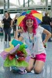 ΛΟΣ ΑΝΤΖΕΛΕΣ, ασβέστιο - 5 Ιουλίου ανεμιστήρας στο κοστούμι σε ένα Λα Anime EXPO 2013 Στοκ Εικόνες
