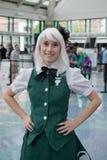ΛΟΣ ΑΝΤΖΕΛΕΣ, ασβέστιο - 5 Ιουλίου ανεμιστήρας στο κοστούμι σε ένα Λα Anime EXPO 2013 Στοκ Φωτογραφίες