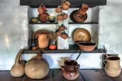 ΛΟΣ ΑΝΤΖΕΛΕΣ, ΚΑΛΙΦΟΡΝΙΑ - 10 ΑΥΓΟΎΣΤΟΥ: Δοχεία στην επίδειξη στον παλαιό Στοκ Εικόνες