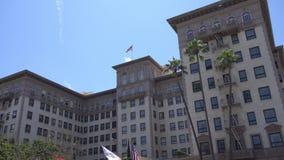 ΛΟΣ ΑΝΤΖΕΛΕΣ, ΚΑΛΙΦΟΡΝΙΑ, ΗΠΑ - 5 Αυγούστου 2019: Beverly Wilshire, ένα ξενοδοχείο του Four Seasons στο Μπέβερλι Χιλς, Λος Άντζελ απόθεμα βίντεο