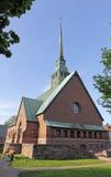 Λουθηρανική εκκλησία τούβλου Στοκ Εικόνα