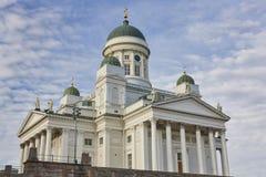 Λουθηρανικός καθεδρικός ναός του Ελσίνκι Tuomiokirkko Κέντρο πόλεων Φινλανδία Στοκ φωτογραφία με δικαίωμα ελεύθερης χρήσης
