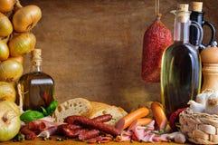 λουκάνικα κρέατος παρα&delt Στοκ φωτογραφία με δικαίωμα ελεύθερης χρήσης