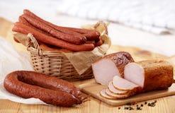 λουκάνικα κρέατος που &kapp Στοκ Φωτογραφία