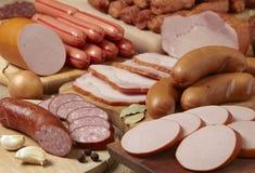 λουκάνικα κρέατος Στοκ φωτογραφία με δικαίωμα ελεύθερης χρήσης