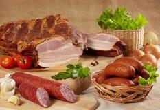 λουκάνικα κρέατος Στοκ φωτογραφίες με δικαίωμα ελεύθερης χρήσης