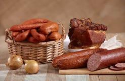 λουκάνικα κρέατος Στοκ εικόνα με δικαίωμα ελεύθερης χρήσης