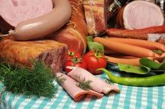 λουκάνικα φρέσκου κρέατος Στοκ Εικόνες