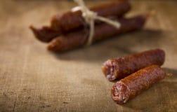 Λουκάνικα χοιρινού κρέατος Στοκ εικόνες με δικαίωμα ελεύθερης χρήσης