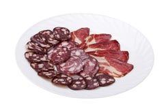 λουκάνικο κρέατος που &ka Στοκ Εικόνες