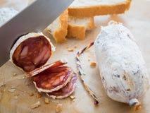 Λουκάνικο με το ψωμί Στοκ φωτογραφίες με δικαίωμα ελεύθερης χρήσης