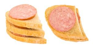 Λουκάνικο bap ή ρόλος ψωμιού Στοκ Εικόνες