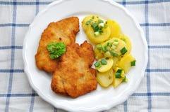 Λουκάνικο Schnitzel Στοκ φωτογραφία με δικαίωμα ελεύθερης χρήσης