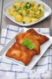 Λουκάνικο Schnitzel Στοκ εικόνες με δικαίωμα ελεύθερης χρήσης