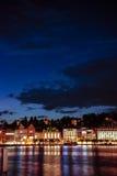 Λουκέρνη τή νύχτα Στοκ εικόνα με δικαίωμα ελεύθερης χρήσης