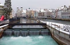 Λουκέρνη το χειμώνα, Ελβετία Στοκ Εικόνες