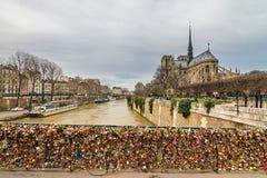 Λουκέτα της Notre Dame Στοκ φωτογραφία με δικαίωμα ελεύθερης χρήσης