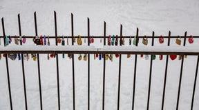 Λουκέτα ως σύμβολο της αγάπης Στοκ Φωτογραφίες