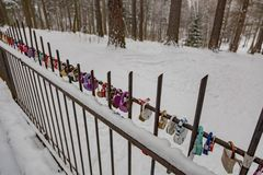 Λουκέτα ως σύμβολο της αγάπης Στοκ Εικόνες
