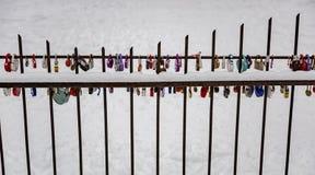 Λουκέτα ως σύμβολο της αγάπης Στοκ φωτογραφία με δικαίωμα ελεύθερης χρήσης
