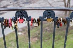 Λουκέτα ως σύμβολο της αγάπης Στοκ εικόνες με δικαίωμα ελεύθερης χρήσης