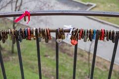 Λουκέτα ως σύμβολο της αγάπης Στοκ εικόνα με δικαίωμα ελεύθερης χρήσης
