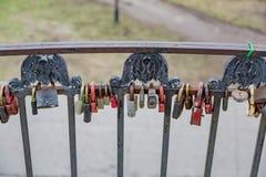 Λουκέτα ως σύμβολο της αγάπης Στοκ Εικόνα