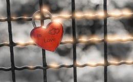 Λουκέτο καρδιών Στοκ Φωτογραφία