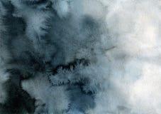 Λουλάκι και μαύρο υπόβαθρο κλίσης watercolor ελεύθερη απεικόνιση δικαιώματος