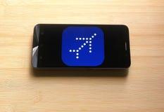 Λουλάκι app στο κινητό τηλέφωνο στοκ εικόνες