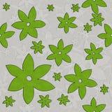 Λουλούδια, άμπελοι, άνευ ραφής σχέδιο πράσινος και άσπρος διανυσματική απεικόνιση