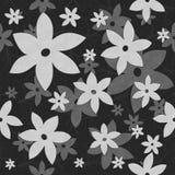 Λουλούδια, άμπελοι, άνευ ραφής σχέδιο σε γραπτό διανυσματική απεικόνιση