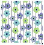 λουλούδια άνευ ραφής Στοκ Φωτογραφίες