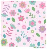 λουλούδια άνευ ραφής Στοκ Φωτογραφία