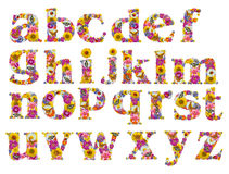 λουλούδια αλφάβητου Στοκ φωτογραφίες με δικαίωμα ελεύθερης χρήσης