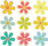 λουλούδια αναδρομικά Στοκ Εικόνα