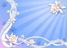 λουλούδια ανασκόπησης Στοκ φωτογραφία με δικαίωμα ελεύθερης χρήσης