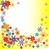λουλούδια ανασκόπησης Στοκ Εικόνα