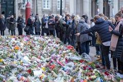 Λουλούδια για τον πρίγκηπα Henrik, Δανία Στοκ Εικόνες