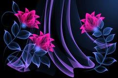 λουλούδια διαφανή Στοκ φωτογραφία με δικαίωμα ελεύθερης χρήσης