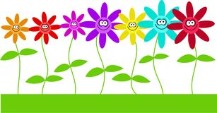 λουλούδια ευτυχή απεικόνιση αποθεμάτων