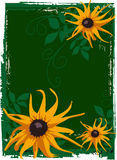 λουλούδια κίτρινα Διανυσματική απεικόνιση